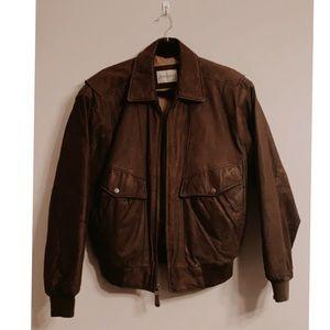 Vintage Dark Brown Genuine Leather Jacket